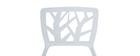 Chaises design blanches empilables intérieur / extérieur (lot de 2) KATIA