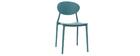 Chaises design bleu canard polypropylène empilables (lot de 2) ANNA