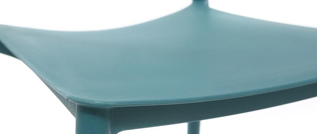 Chaises design empilables bleu canard (lot de 2) ANNA