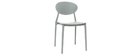 Chaises design empilables grises (lot de 2) ANNA