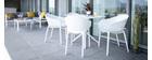 Chaises design empilables noires intérieur / extérieur (lot de 4) OSKOL