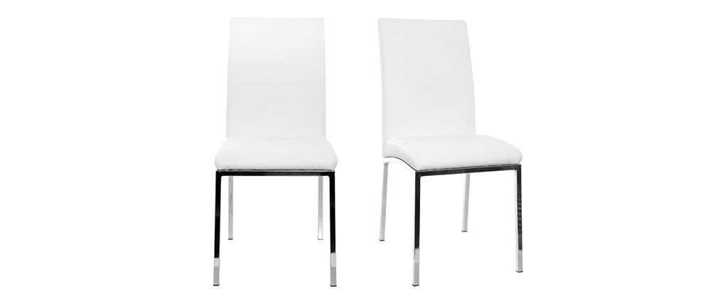 Chaises design polyuréthane blanc (lot de 2) SIMEA