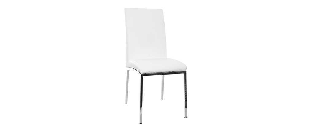 Chaises design polyuréthane blanc - lot de 2 SIMEA