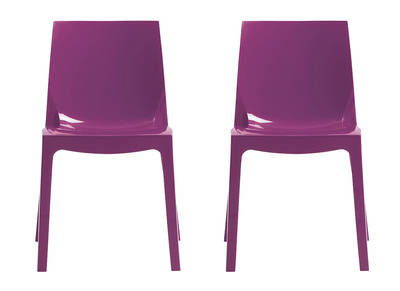 Chaises design prunes lot de 2 MAELI