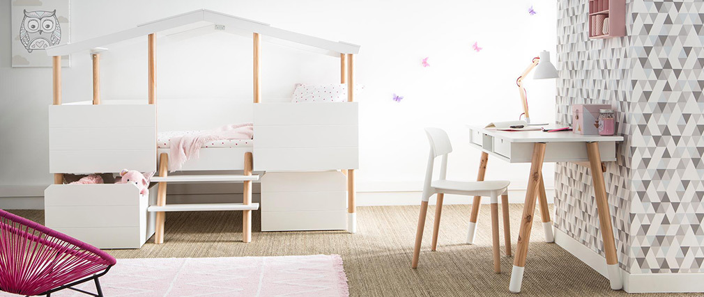 Chaises design scandinave blanches (lot de 2) GILDA