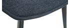 Chaises design tissu effet velours gris foncé (lot de 2) PARKER