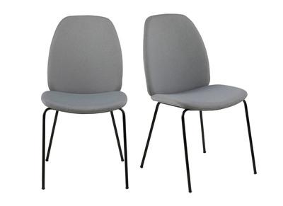 Chaises De 2Paloma Design Tissu Clairlot Gris exCBEdoQrW