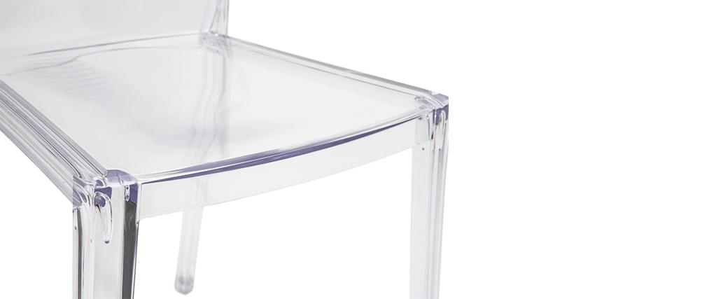 Chaises design transparentes empilables (lot de 2) ISLAND