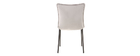Chaises design velours gris (lot de 2) SOLACE