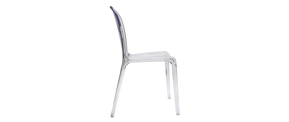 Chaises empilables design transparentes (lot de 2) THALYSSE