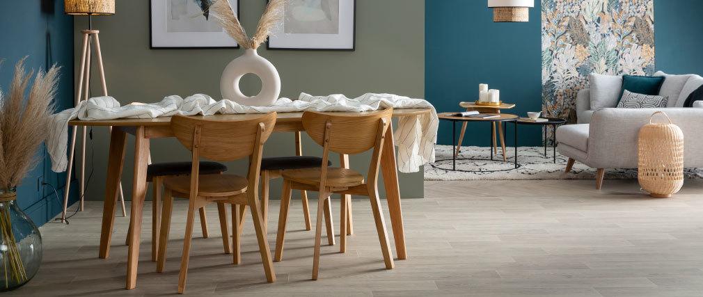 Chaises scandinaves finition chêne (lot de 2) LEENA