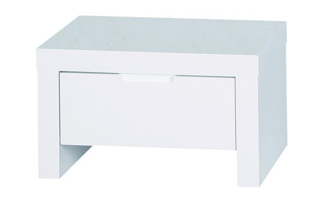 Chevet table de nuit design blanche laqu e l a miliboo for Miroir des modes 427