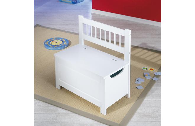 coffre jouets banc blanc ecolier miliboo. Black Bedroom Furniture Sets. Home Design Ideas