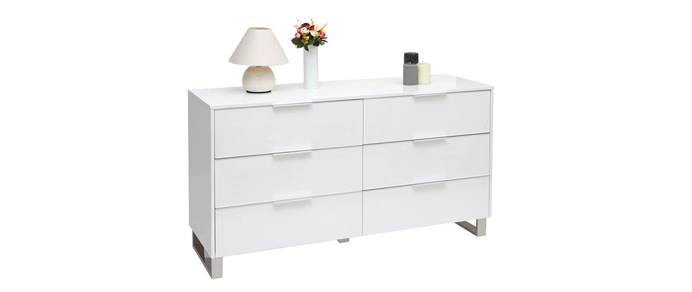 Commode design laquée blanche HALIFAX