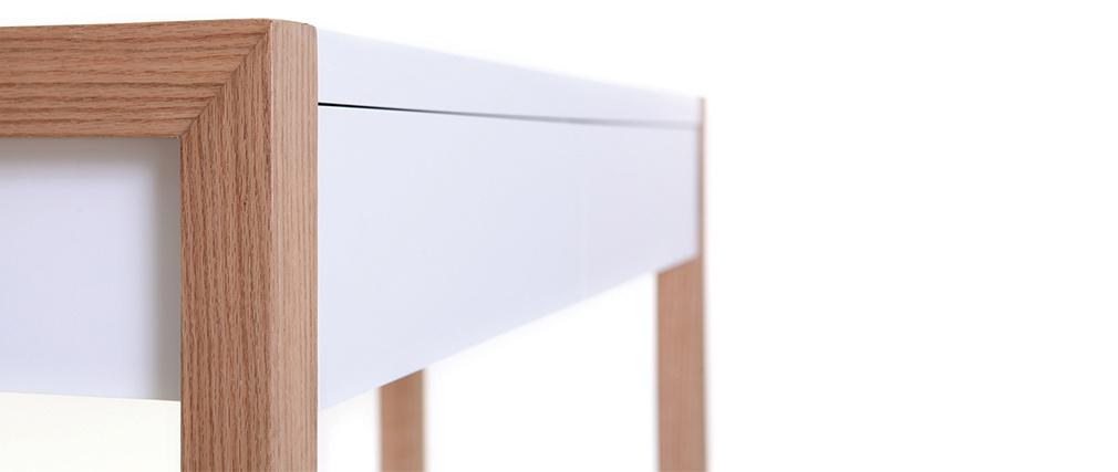 Console design blanche et chêne L120 cm ARMEL
