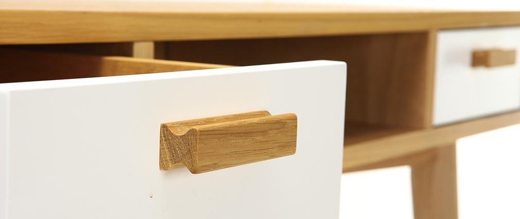Console design scandinave blanche et chêne HELIA