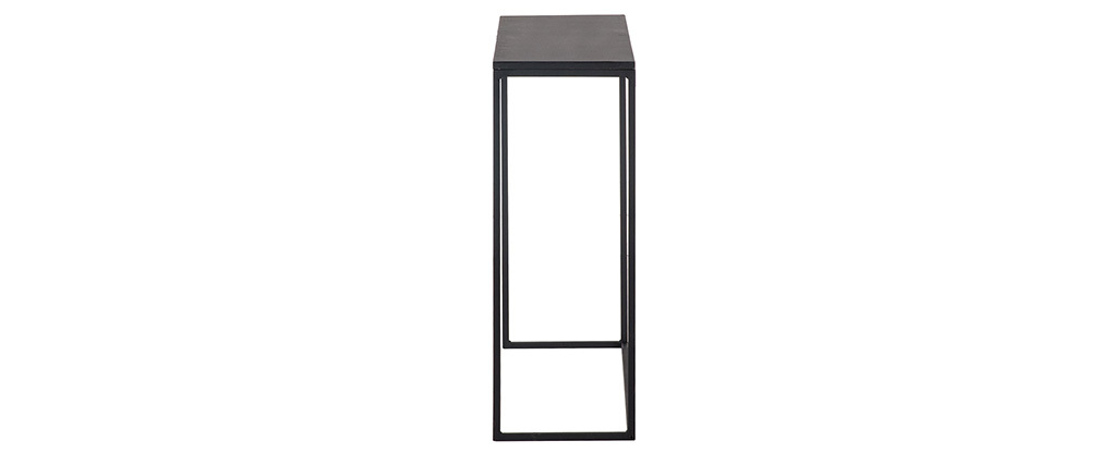 Console industrielle métal noir L100 cm KARL