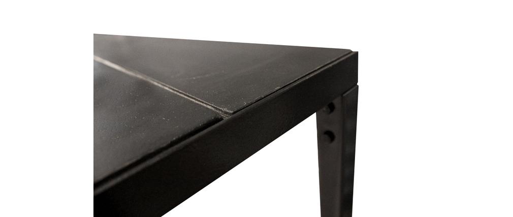 console sur roulettes tag res m tal et b ton rawy miliboo. Black Bedroom Furniture Sets. Home Design Ideas