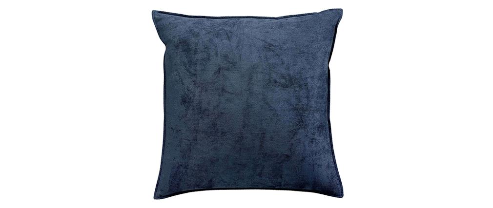 Coussin en velours bleu 45 x 45 cm ALOU