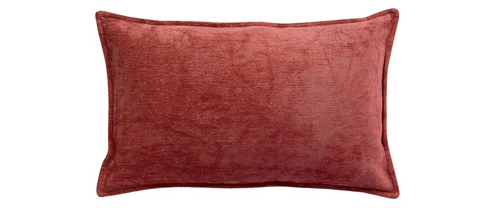 Coussin en velours rouge tomette 30 x 50 cm ALOU