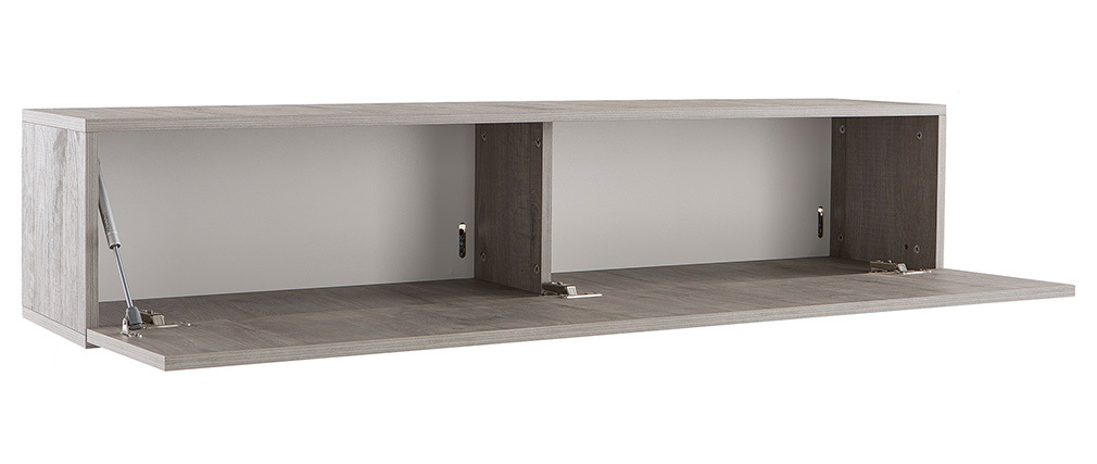 Élément mural TV design bois grisé horizontal COLORED V2