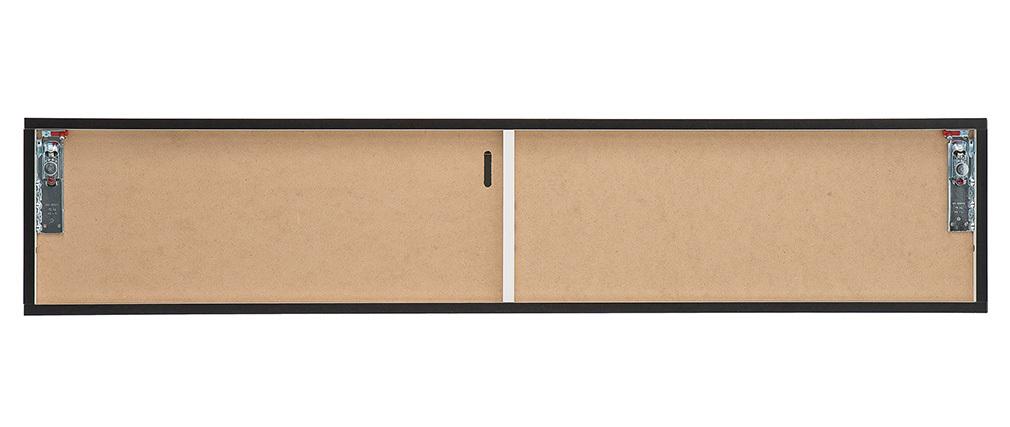 Élément mural TV design gris anthracite mat horizontal COLORED V2