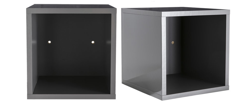 Eléments muraux carrés laqués brillant gris (lot de 2) ETERNEL