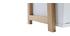 Étagère design laqué blanc mat et bois STOKA