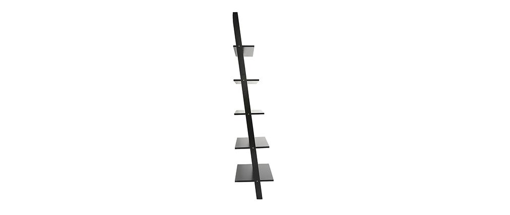 Étagère échelle en bois noir CAMINO