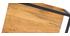 étagères murales carrées en métal noir et manguier massif (lot de 3) YPSTER