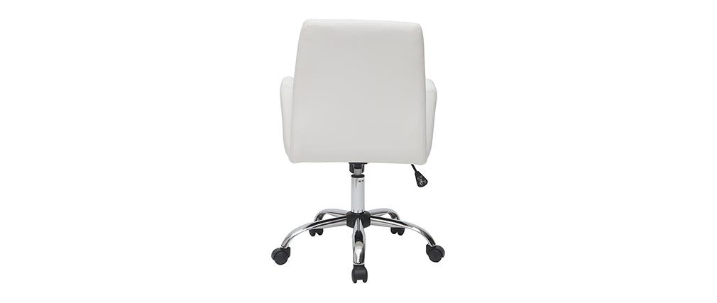 Fauteuil de bureau design blanc ARIEL