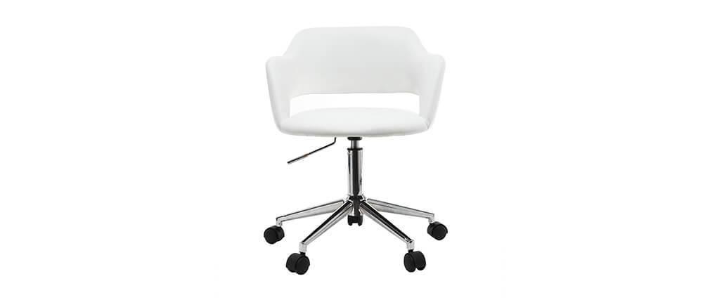 Fauteuil de bureau design blanc JESSY