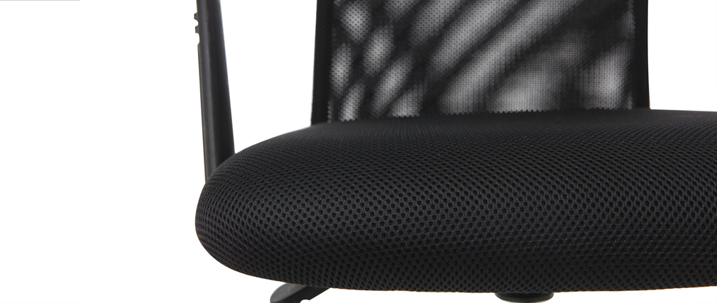Fauteuil de bureau design en mesh noir PLUZ