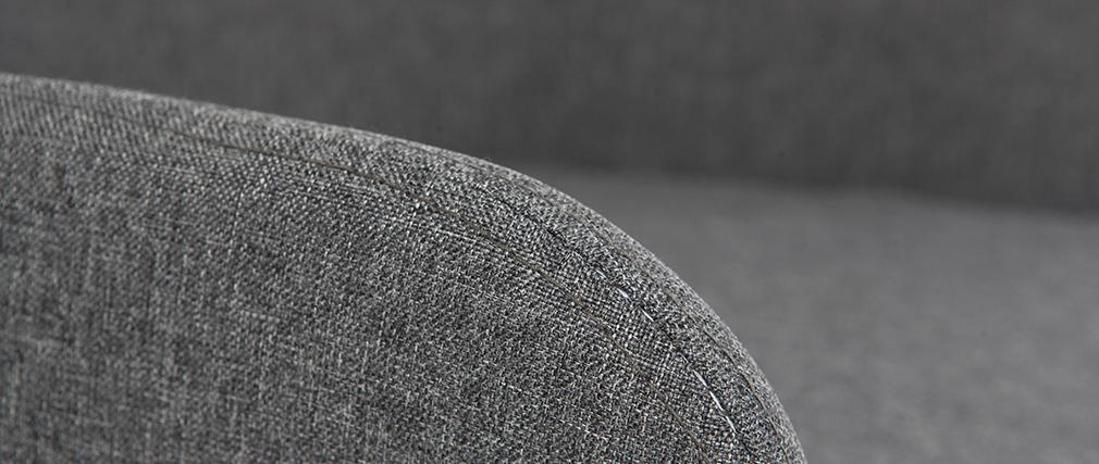 Fauteuil de bureau design en tissu gris anthracite SHANA