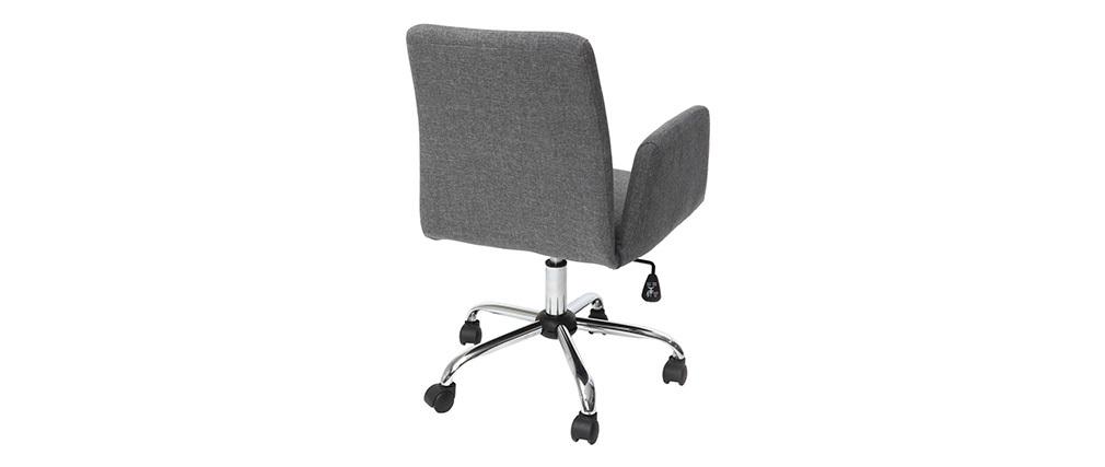 Fauteuil de bureau design en tissu gris ARIEL