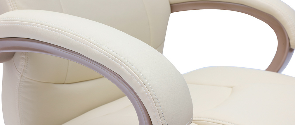 Fauteuil de bureau design ivoire Toronto