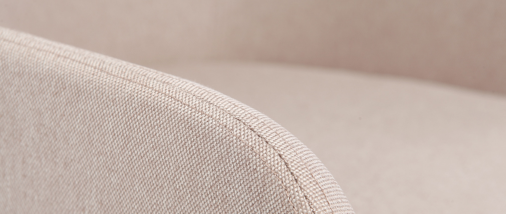 Fauteuil de bureau design tissu naturel SHANA