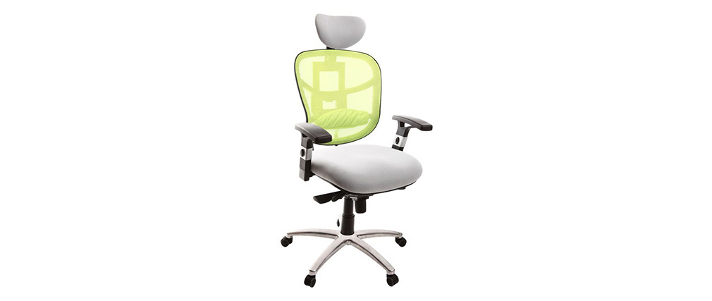 Fauteuil de bureau ergonomique anis et blanc UP TO YOU