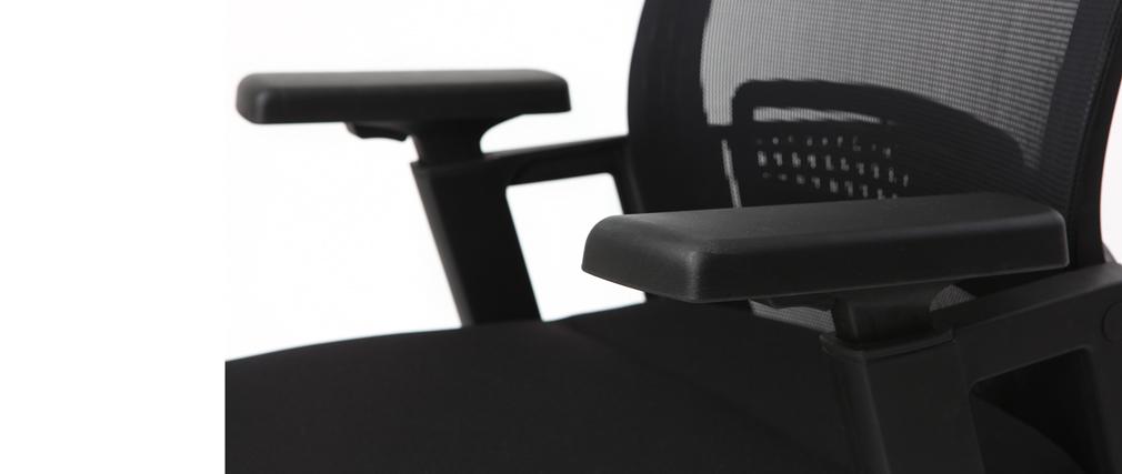 Fauteuil de bureau ergonomique design noir TITAN