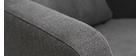 Fauteuil design gris anthracite pieds bois KYOTO