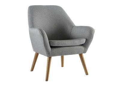 Fauteuil design gris clair MIRA