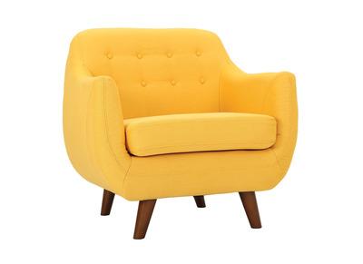Fauteuil design jaune YNOK