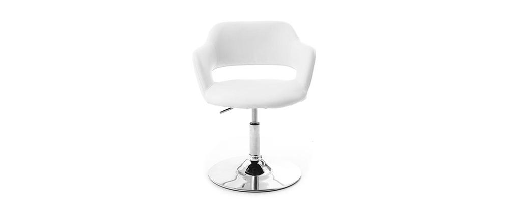 Fauteuil pivotant design blanc JESSY