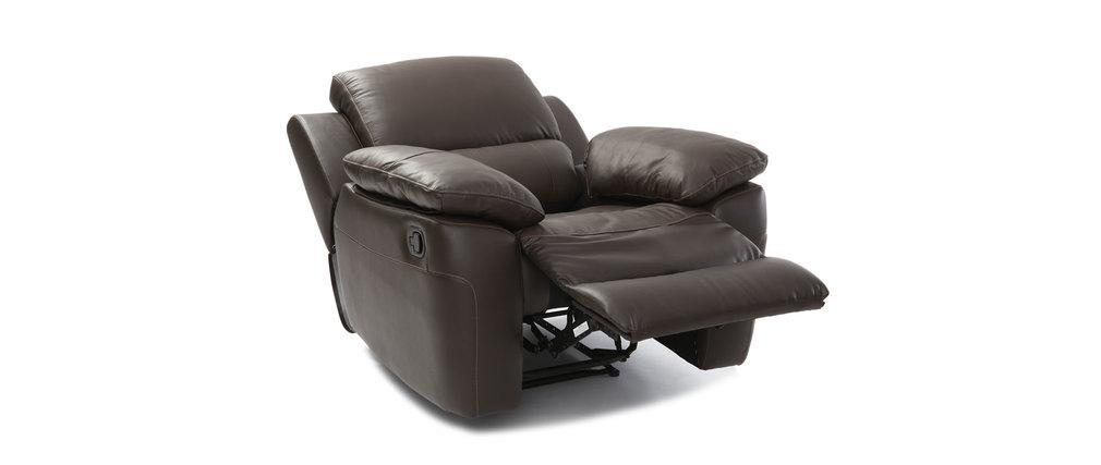 Les concepteurs artistiques fauteuil relax cuir chocolat kingston - Fauteuil cuir chocolat ...