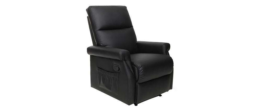 Fauteuil relax design manuel noir COTY
