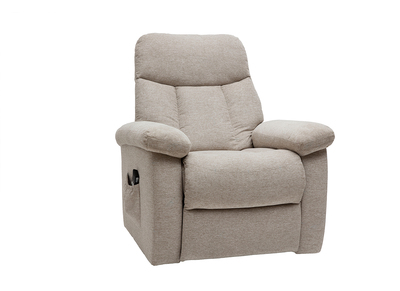 Fauteuil Relax Creme.Fauteuil Relax Electrique Inclinable En Tissu Creme Movie