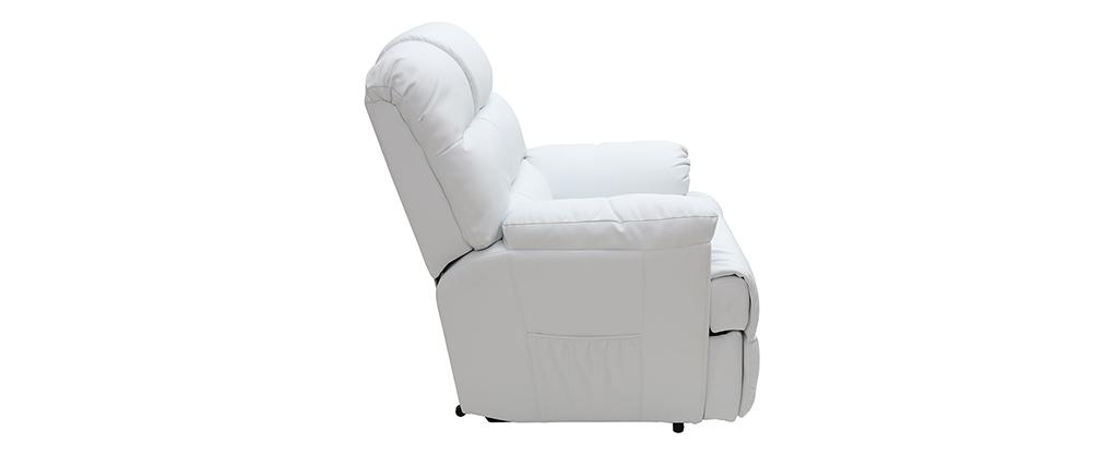 Fauteuil relax électrique releveur blanc PHOEBE