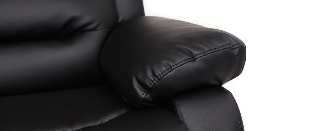 Fauteuil relax manuel noir TED