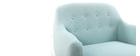 Fauteuil scandinave déhoussable menthe à l'eau YNOK