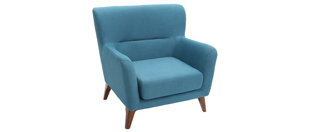 Fauteuil vintage bleu canard MARKUS